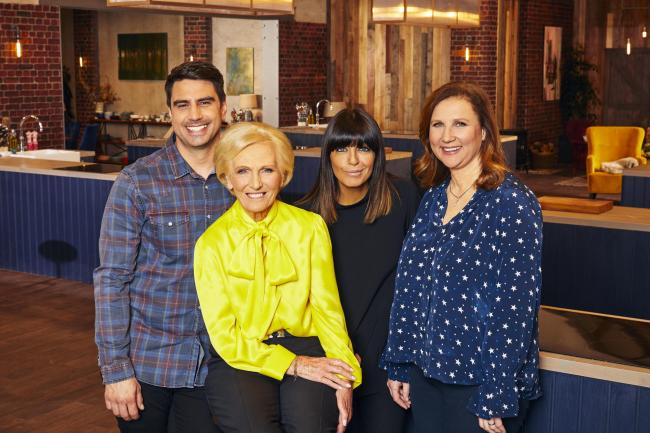 Best Home Cook (L-R) Chris Bavin, Mary Berry, Claudia Winkleman and Angela Hartnett