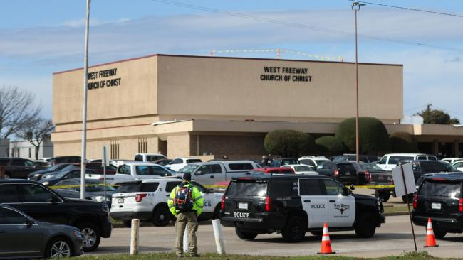 Parishioners shot and killed Texas church gunman, police say
