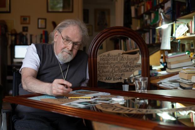 HeraldScotland: The late artist Alasdair Gray.  Image: Colin Mearns / The Herald