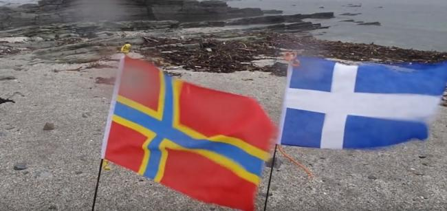 Orkney and Shetland flags