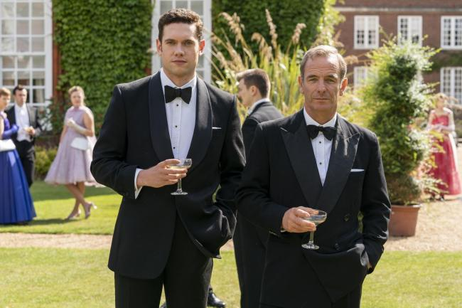 Tom Brittney as Rev Will Davenport and Robson Green as Geordie Keating