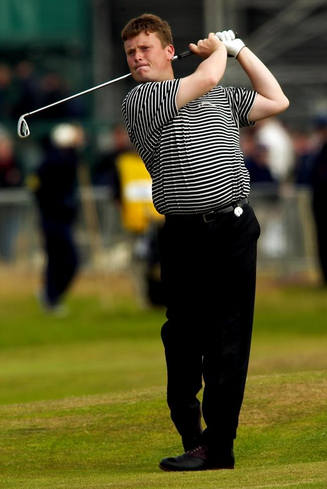 Stuart Wilson in action during the 2004 Open at Royal Troon