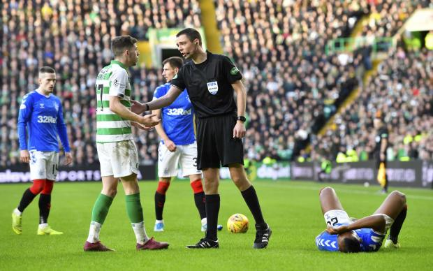 HeraldScotland: Ryan Christie is reprimanded after the incident