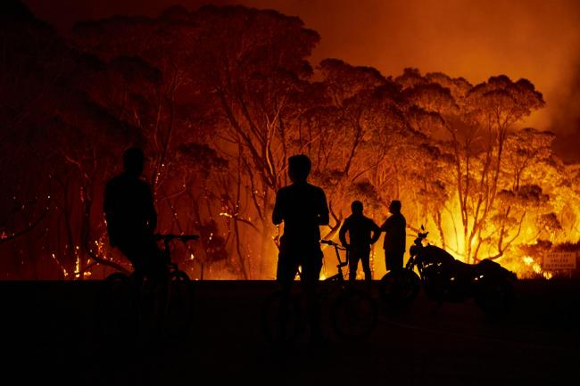 Climate change has played a part in the bushfires that have been raging in Australia since September 2019. Picture: Brett Hemmings/Getty Images.