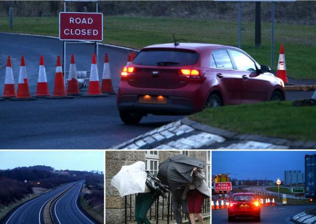 A1 closed as highs winds batter parts of country