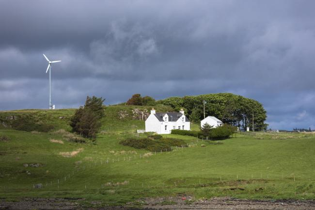Windfarms are an increasingly important source of power for homes on Skye.