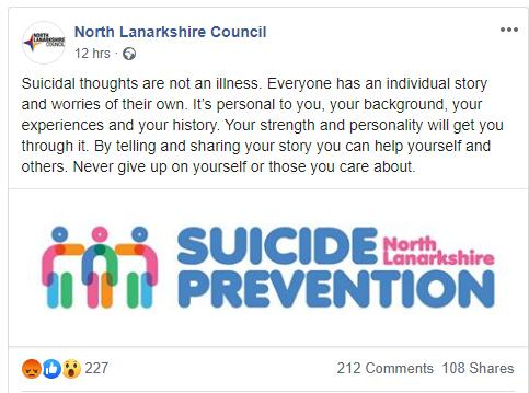 HeraldScotland: North Lanarkshire Council's Facebook post ,which has been deleted