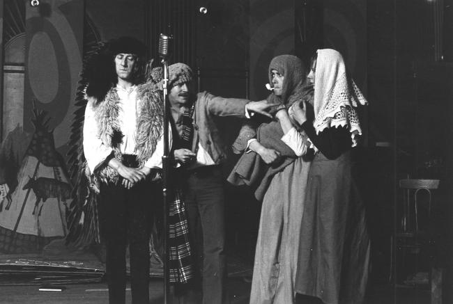 02. The Cheviot, The Stag and the Black, Black Oil. Production image of original 1973 cast featuring Bill Paterson.
