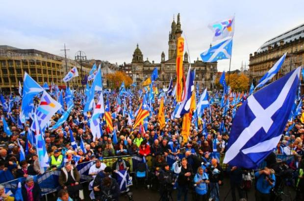 HeraldScotland: A previous rally for independence in George Square