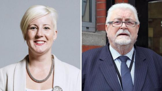 SNP MP Hannah Bardell, left, claims Lord Maginnis launched a 'homophobic attack' on her after she raised his 'abusive' behaviour towards parliamentary staff