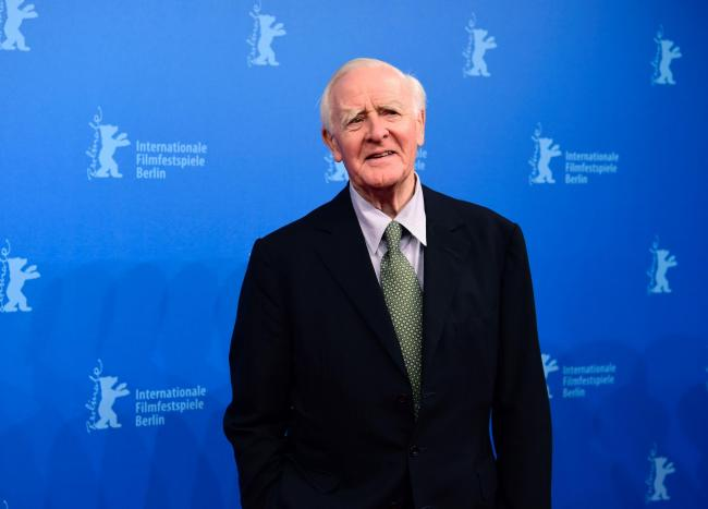 Author John le Carré pictured while attending a screening of The Night Manager, adapted from one of his hit novels.