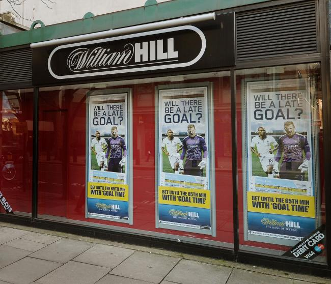 Shares in William Hill closed higher