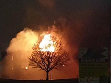 Six fire engines were sent to the blaze. Picture: Freya Gordon.
