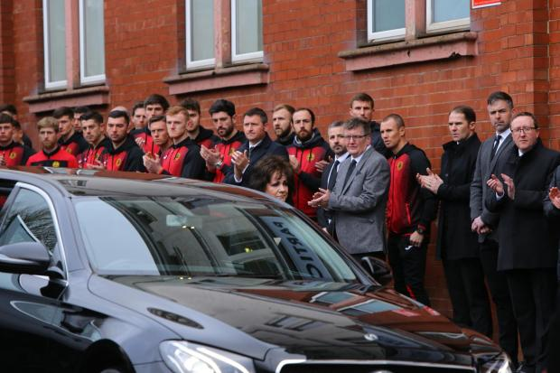 HeraldScotland: Members of the Thistle squad lined the streets to honour Mr Weir's memory.