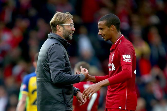 Joel Matip is one of several players Jurgen Klopp is hoping to have available again this week (