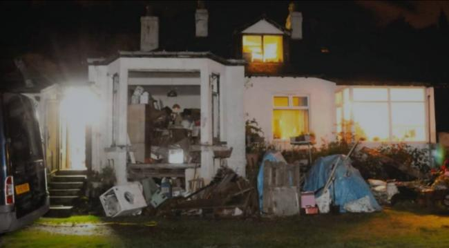 Seacroft cottage was raided by police in search of Margaret Fleming's body. (Image: BBC Scotland)