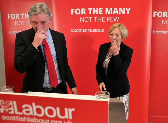 Scottish Labour leader Richard Leonard and his former deputy Lesley Laird