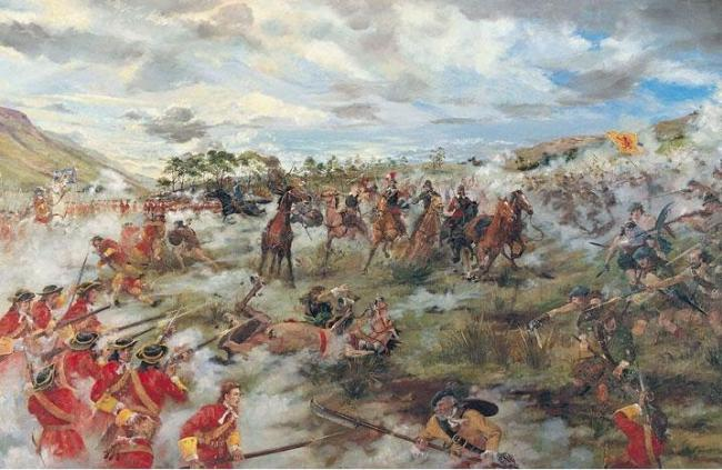 Around 1,200 of government troops were slaughtered by Jacobites at the Battle of Killiecrankie in 1689.