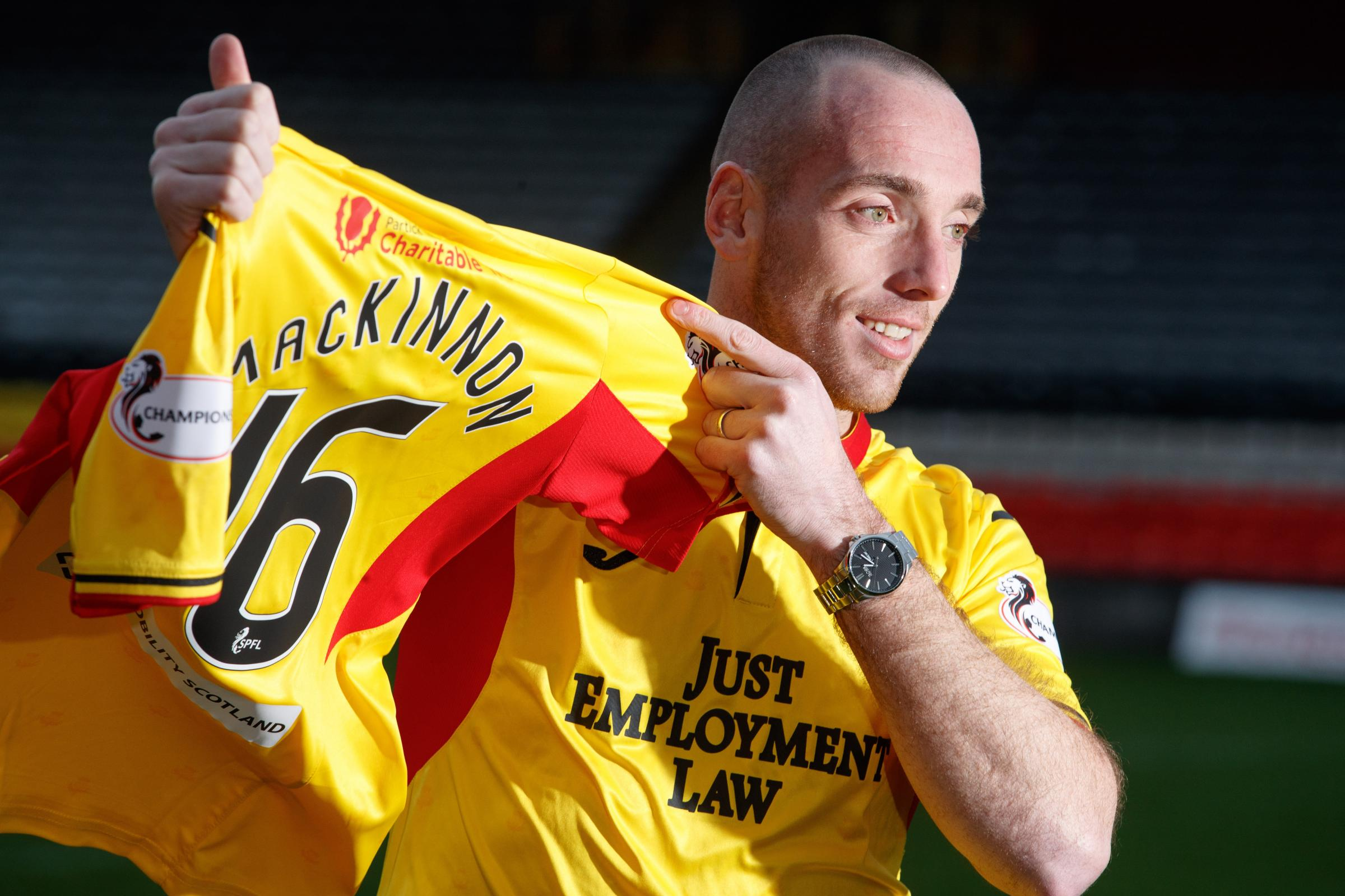 Partick Thistle's Darian MacKinnon relishing battle with Scott Brown