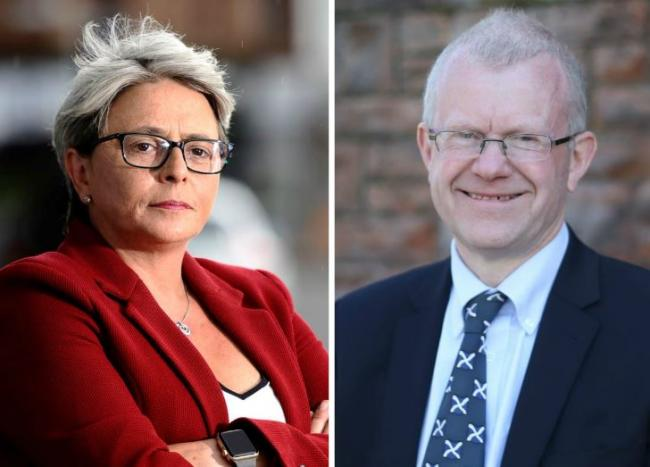 Scottish Tory MSP Annie Wells (L) has called on the First Minister to consider whether John Mason (R) is