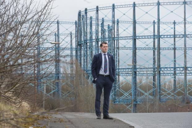 .The Blochairn gas works are at threat of being knocked down, despite a campaign to have them listed as sites of historical importance. MP Paul Sweeney is campaigning to have them repurposed.....23/03/18..(Photo by Kirsty Anderson / Herald & Times) -