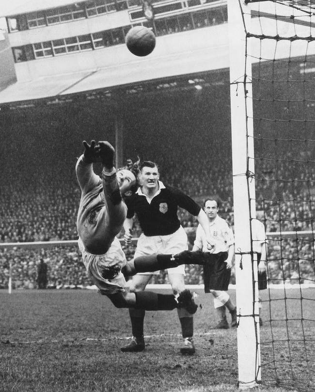 Bobby Brown in action against England in 1952