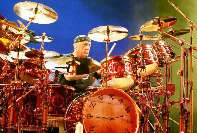 Legendary drummer Neil Peart, of the band, Rush. Photo by Mike Lawrie/Getty Images