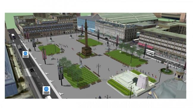 Call for 'bolder' vision to combat Glasgow pollution after George Square plan unveiled