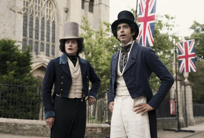 Aneurin Barnard as James Steerforth and Dev Patel as David Copperfield. PA Photo/Lionsgate Films