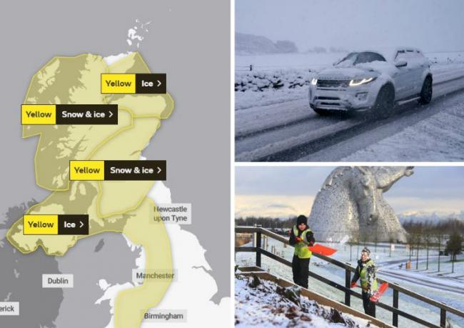 Scotland's weather: Commuters warned of disruption from snow and ice