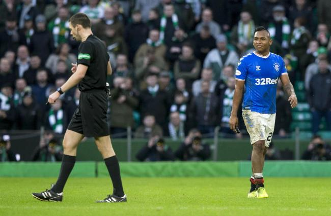 Rangers striker Alfredo Morelos an injury doubt against Ross County