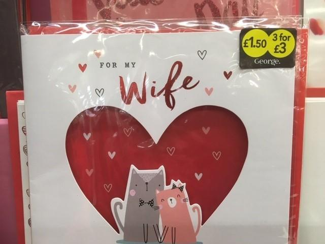 Barrie Crawford spotted this card, which he describes as a bigamy bargain. After all, surely a three-card deal is only of use if you have an overabundance of wives in your life.