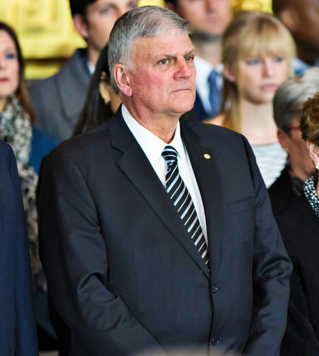 Franklin Graham's Hydro date was cancelled