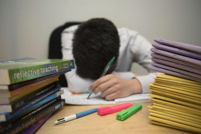 "Around 60 per cent of the teachers who responded said they were ""frequently"" stressed"