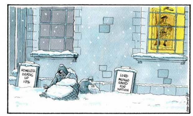 HeraldScotland: Camley's cartoon: Scotland has worst rate of death for homeless