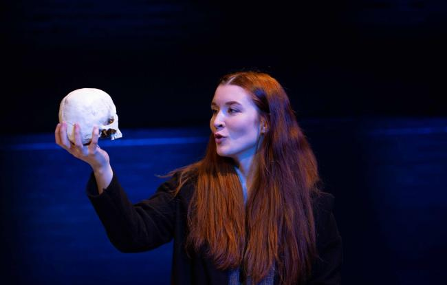 Neila Stephens as Hamlet in the  Royal Conservatoire of Scotland's production, directed by Peter Collins.  Image by Robert McFadzean