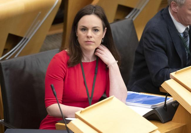 Public finance minister Kate Forbes in the main chamber before unveiling the Scottish Government's spending pledges for the next financial year at the Scottish Parliament in Edinburgh. She stepped-in after Derek Mackay resigned as Finance Secretary af