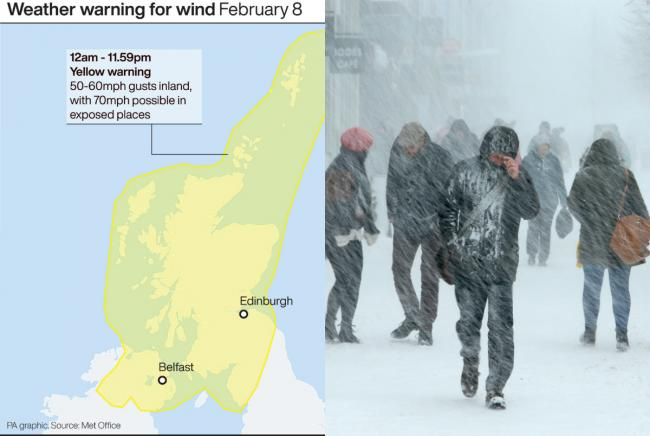Storm Ciara: Scotland set to be battered by 'Atlantic weather bomb' over weekend