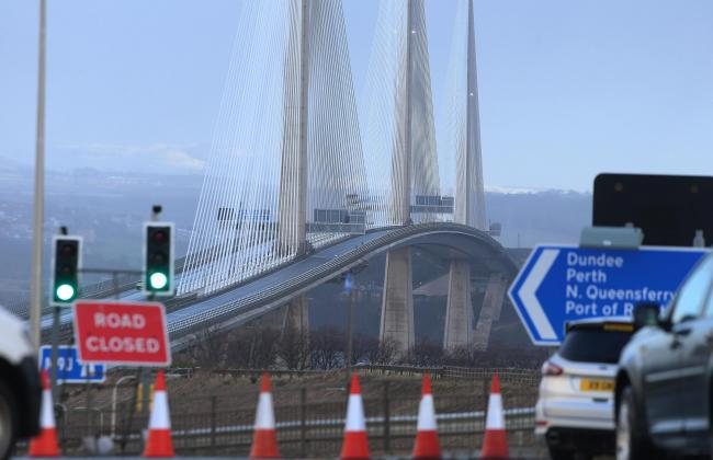Storm Ciara: Queensferry Crossing to remain closed on Tuesday due to falling ice. Picture: Gordon Terris/Herald and Times