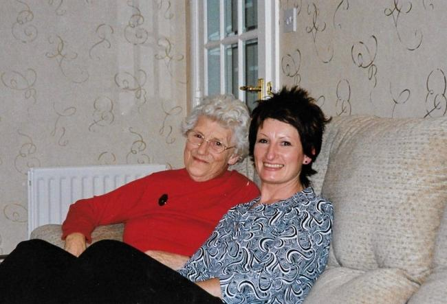 Alison with her mum Ina Ewen, who had dementia