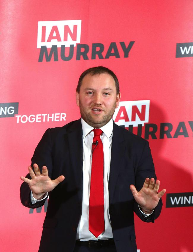 Ian Murray launches hi bid for Labour Deputy in his old Wester Hailes school thursday..Pic Gordon Terris/The Herald.14/1/20.