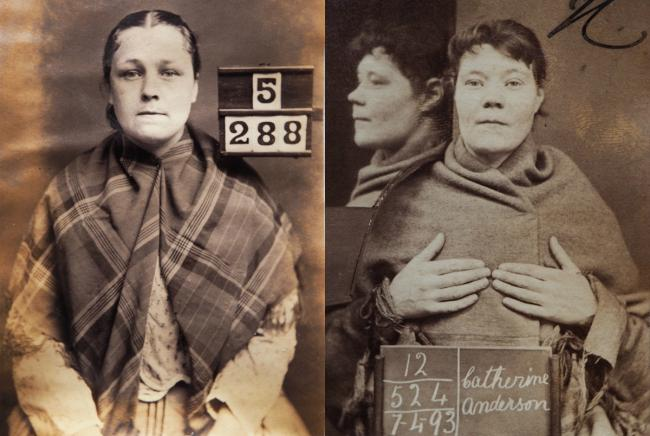 The archive collection includes photographs of women convicted in Aberdeenshire