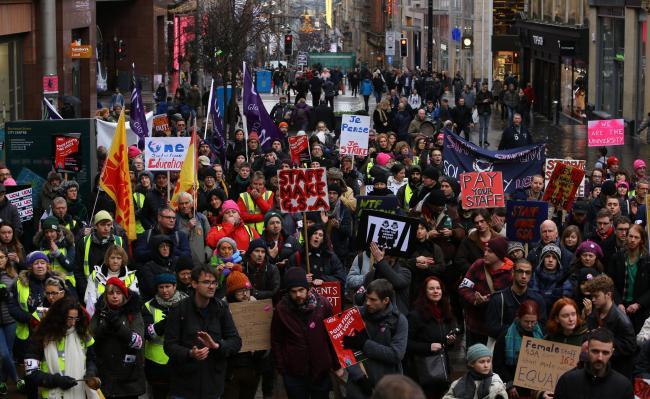 Scottish university staff walk out as 'largest ever' strike action begins