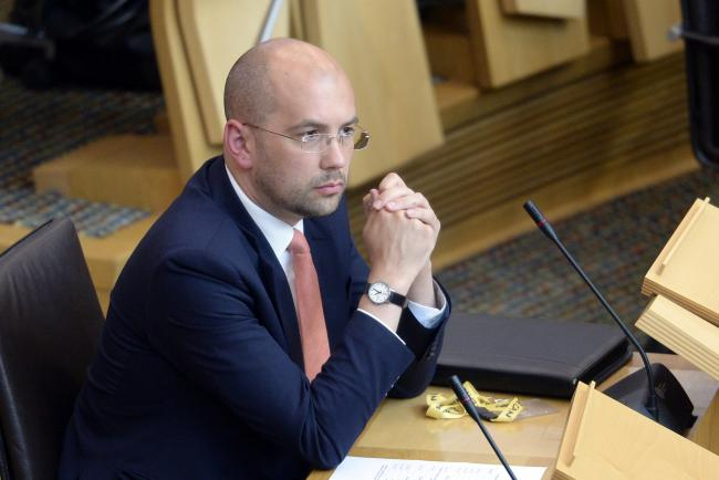 EDINBURGH, SCOTLAND - JUNE 27: Ben Macpherson MSP in the Scottish Parliament after being appointed as Minister for Europe, Migration and International Development in the reshuffle of the Scottish Government by First Minister Nicola Sturgeon, on June 27, 2
