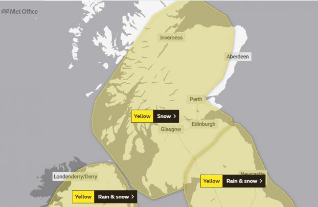 Scotland's weather: After the gusts and floods...the Monday snow warning