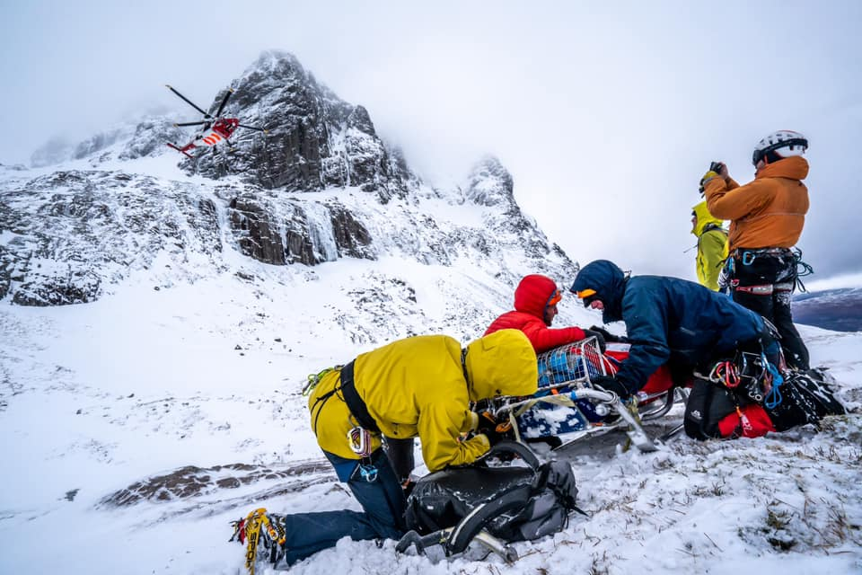 Ben Nevis climbers airlifted to hospital after avalanche and fall