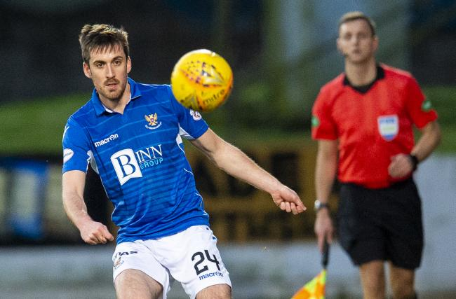 Callum Booth of St Johnstone during
