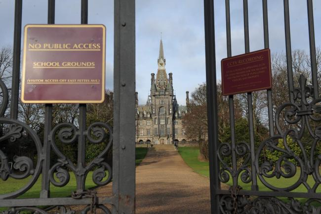 Fairytale palace or Castle Dracula?  The gothic spires of one of Scotland's most exclusive and expensive private schools, Fettes College, whose former pupils include former Prime Minister Tony Blair, dominate the sky across the upmarket Stockbridge ar