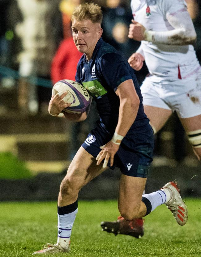 Scotland's Roan Frostwick in action during the U20s' match against England