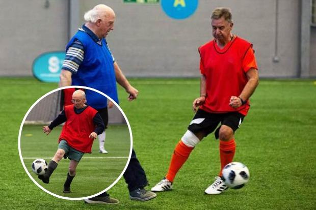 Walking football can get uber competitive between players